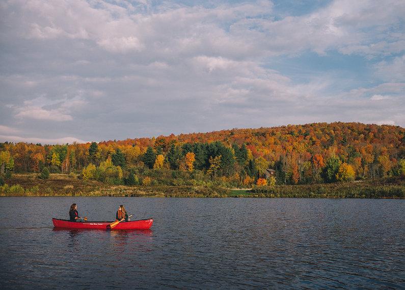 Canoeing in Vermont near Sugarbush ski resort