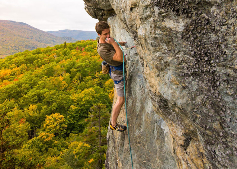Vermont rock and mountain climbing near Stowe