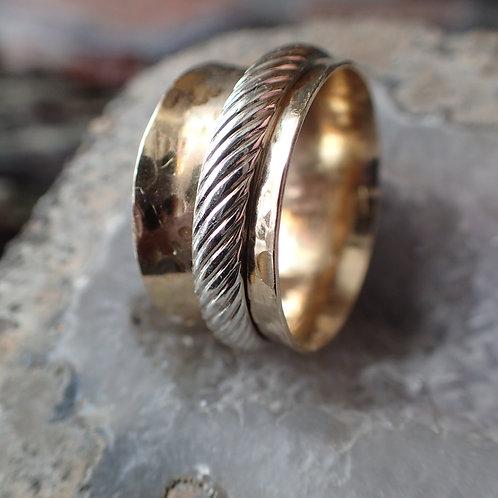 Men's Gold Spinner Ring