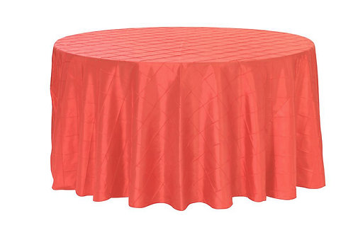 Pintuck Round Tablecloth 132