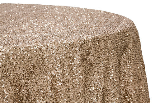 Round Sequinned Tablecloth 132