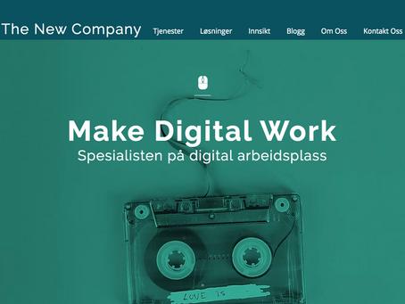 Nye nettsider om den digitale arbeidsplassen