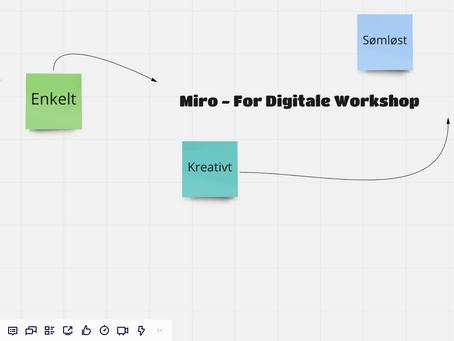 Miro – virtuelle workshops og brainstorming i en hverdag med hjemmekontor