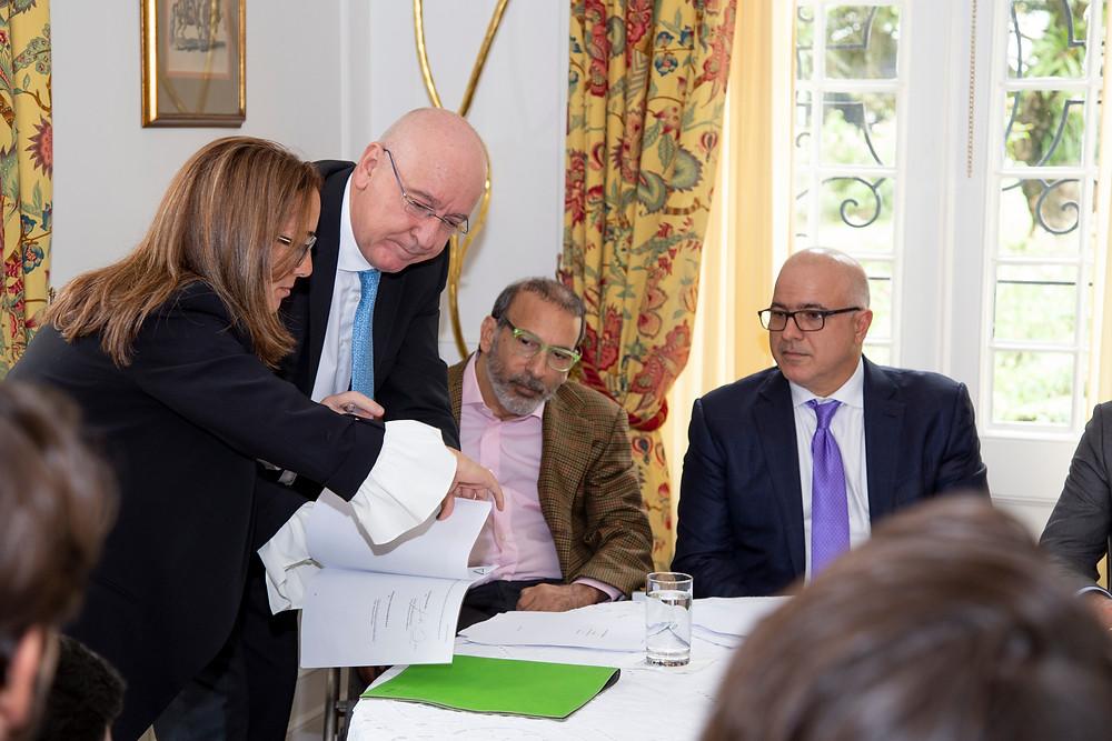 Dominique Azam, Christian Daes, Juan Manuel Daes