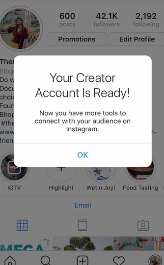 How to switch your business account into a 'Creator account' on Instagram?