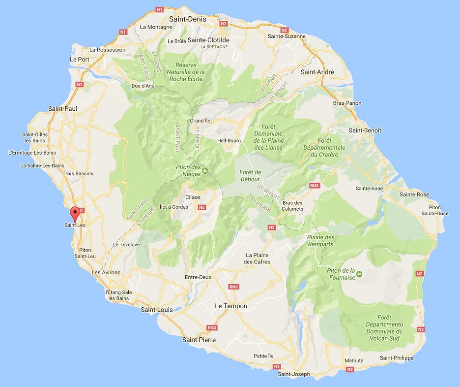 Carte de La Réunion
