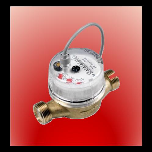 """Compteur d'eau Chaude avec sortie impulsion (1 imp. / 0.25 litre)   raccord 3/4"""""""