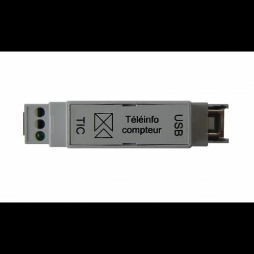 Téléinfo 1 compteur USB rail DIN