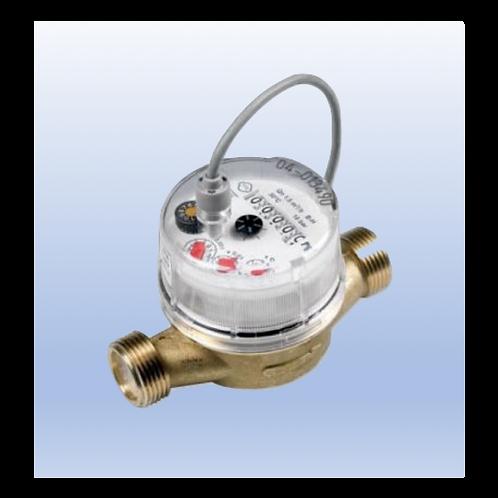"""Compteur d'eau froide avec sortie impulsion (1 imp. / 0.25 litre) raccord 3/4"""""""