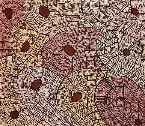 My Country and Water Holes Maureen Hudson Nampitjinpa 83 x 94 cm
