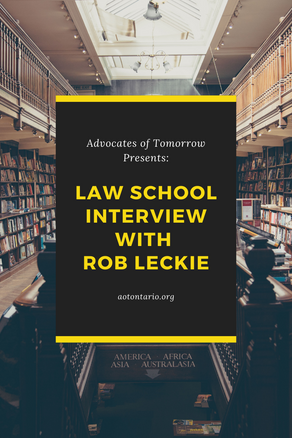 Rob Leckie's Law School Interview