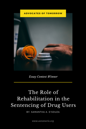 The Role of Rehabilitation in the Sentencing of Drug Users