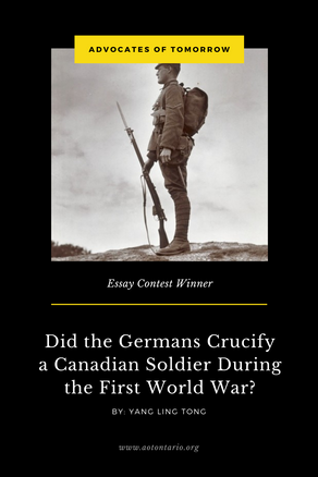 Did the Germans Crucify a Canadian Soldier During the First World War?