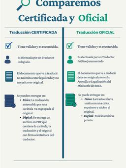 Oficial vs Certificada