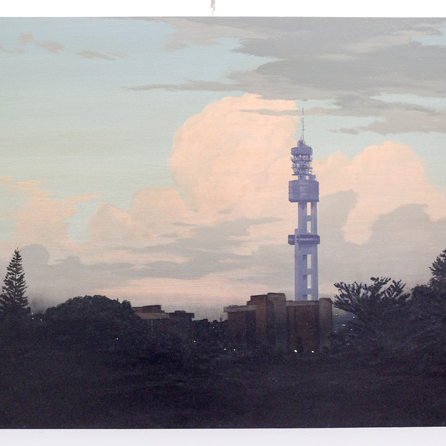 """City Scape With Tower"" by MJ Lourens"
