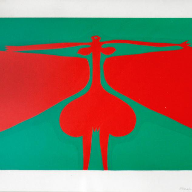"""""""Female Cyclops"""" by Walter Battiss"""