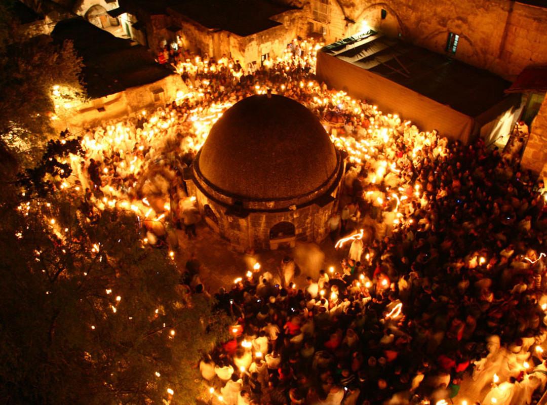 טקס שבת האור, כנסיית הקבר, ירושלים