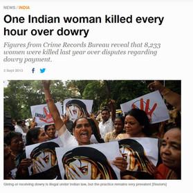 רצח נשים בגלל אי תשלום הנדוניה (Dowry )