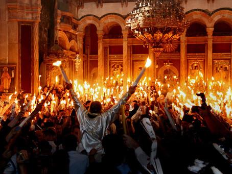 טקס שבת האור בכנסיית הקבר בירושלים