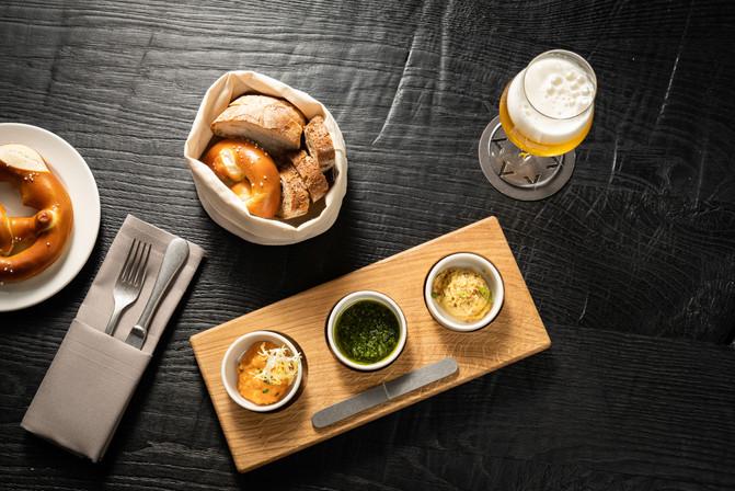 Restaurant Brauwerk - Vorspeise und Bier