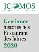Logo ICOMOS Gewinner historisches Restaurant des Jahres 2020