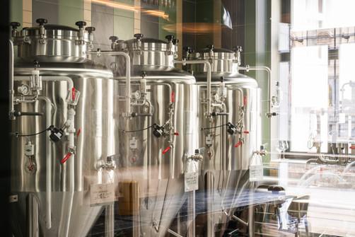 Restaurant Brauwerk - Blick in die Brauerei