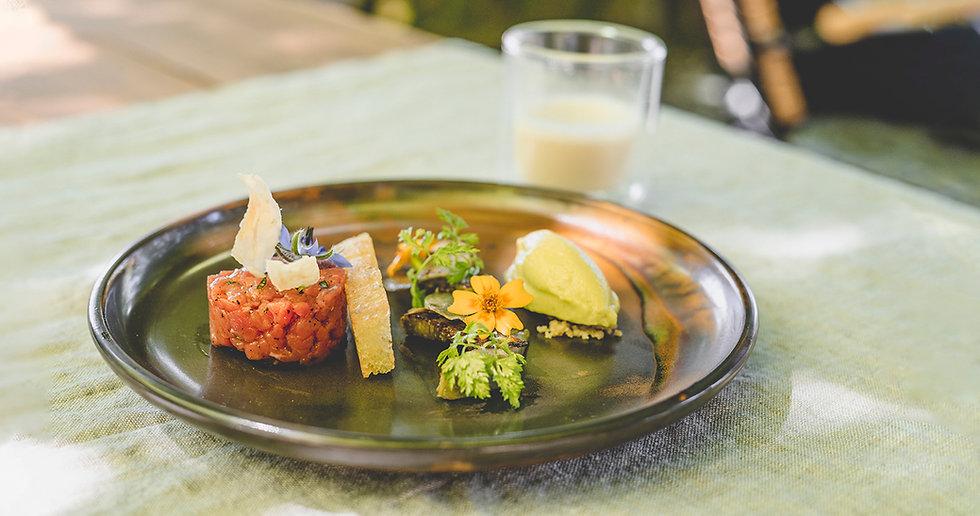 Gourmetspeise mit Fleisch im Gasthof Krone Blatten