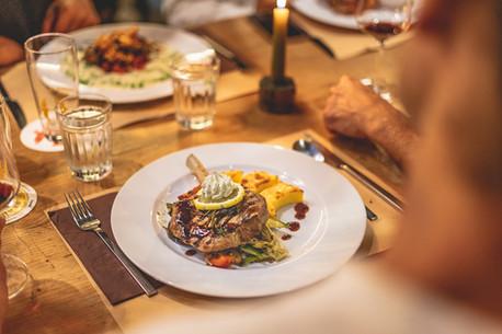 Abendessen im Restaurant Libelle