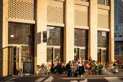 Terrasse der Stadtkäserei und Restaurant