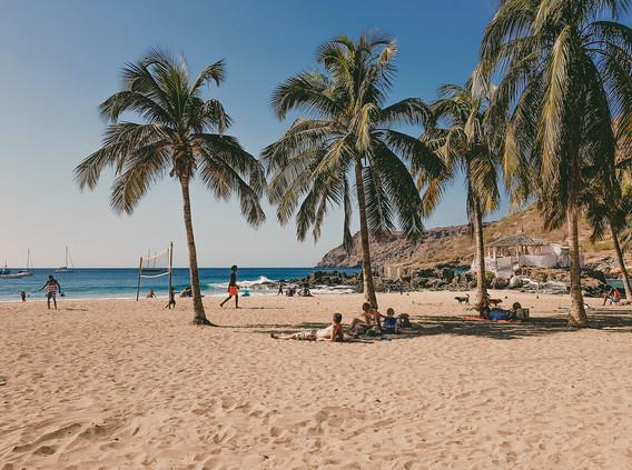 Strand auf der Insel Santiago in Kap Verde