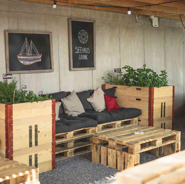 Seehaus Grill Luzern - Lounge im Aussenbereich