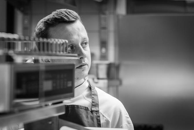 Restaurant Brauwerk - Blick in die Küche