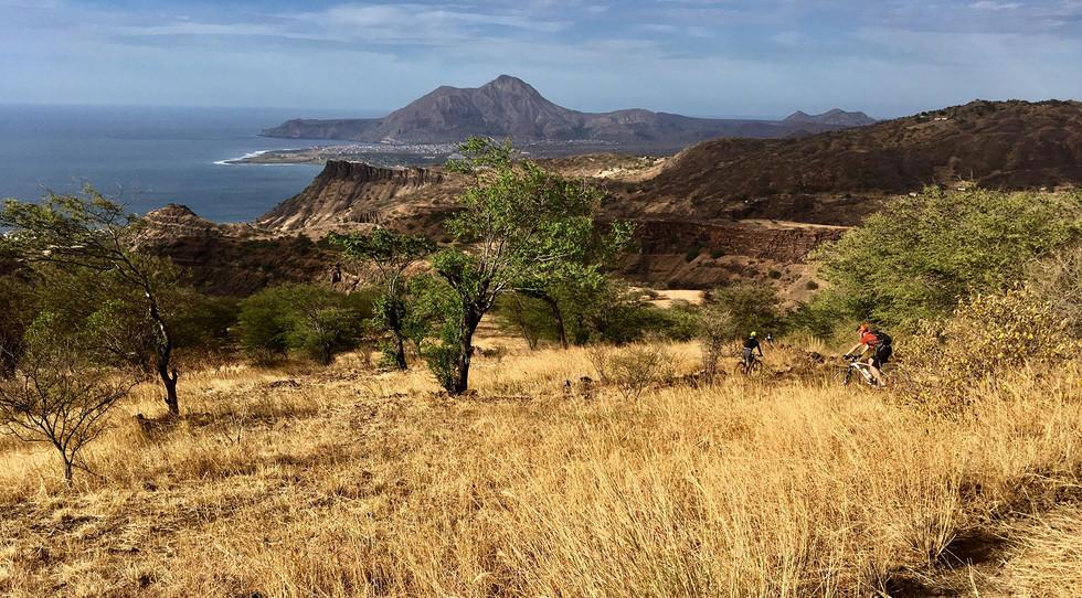 Landschaft auf der Insel Santiago in Kap Verde