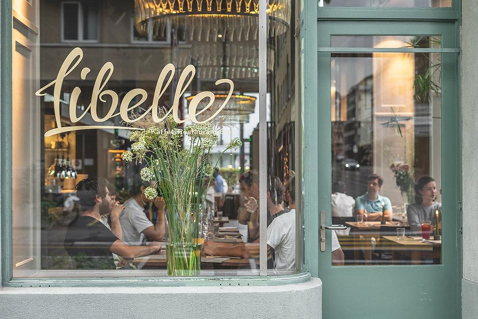 Restaurant Libelle Blick durchs Fenster