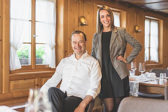 Raphael Tuor und Michelle Beck Gasthof Krone Blatten