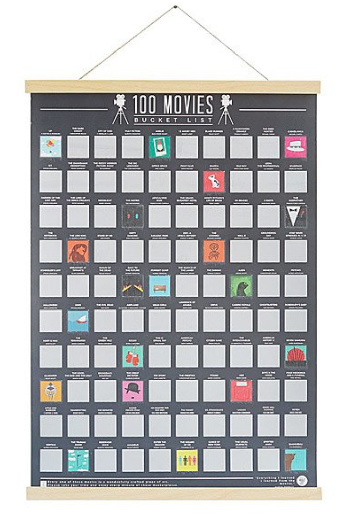 100 Movies Scratch Off Poster - $15.00