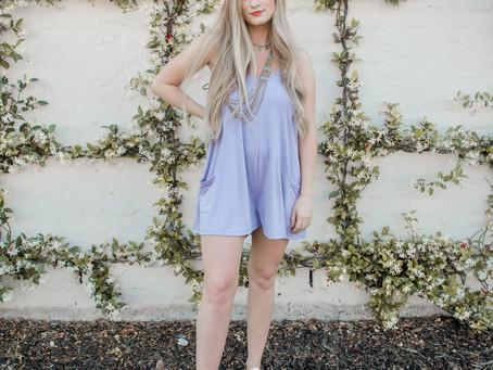 Lilac Romper | Shop Red Dress