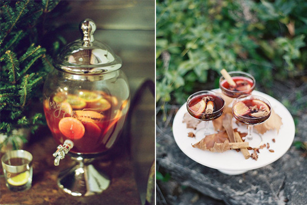 Warm, spiced mulled wine for your guests upon arrival.
