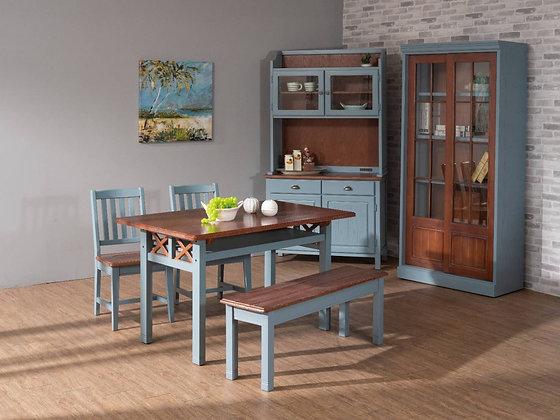 夏系列-餐桌組(含1桌2椅1板條)