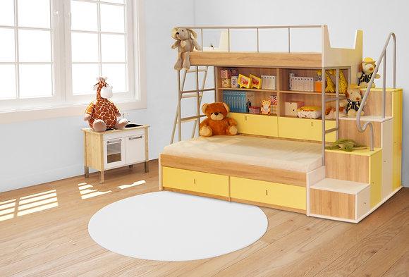 HILKEN-SOM雙層床組(含側梯櫃、不含掛梯、床墊)