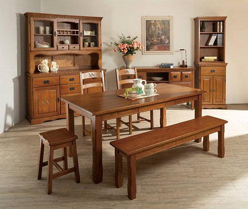 秋系列-餐桌組(含1桌2椅1板條)