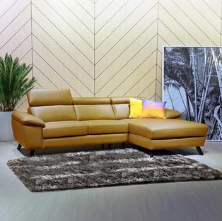 Marviin全皮L型沙發