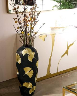 典雅銀杏花瓶