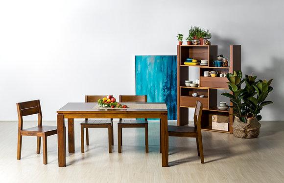 皇齊柚木餐桌椅