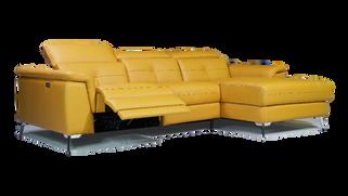 全牛皮L型電動沙發 LV-1158