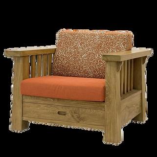 柚木1人組椅