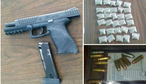 Gun and Drugs Found by Police