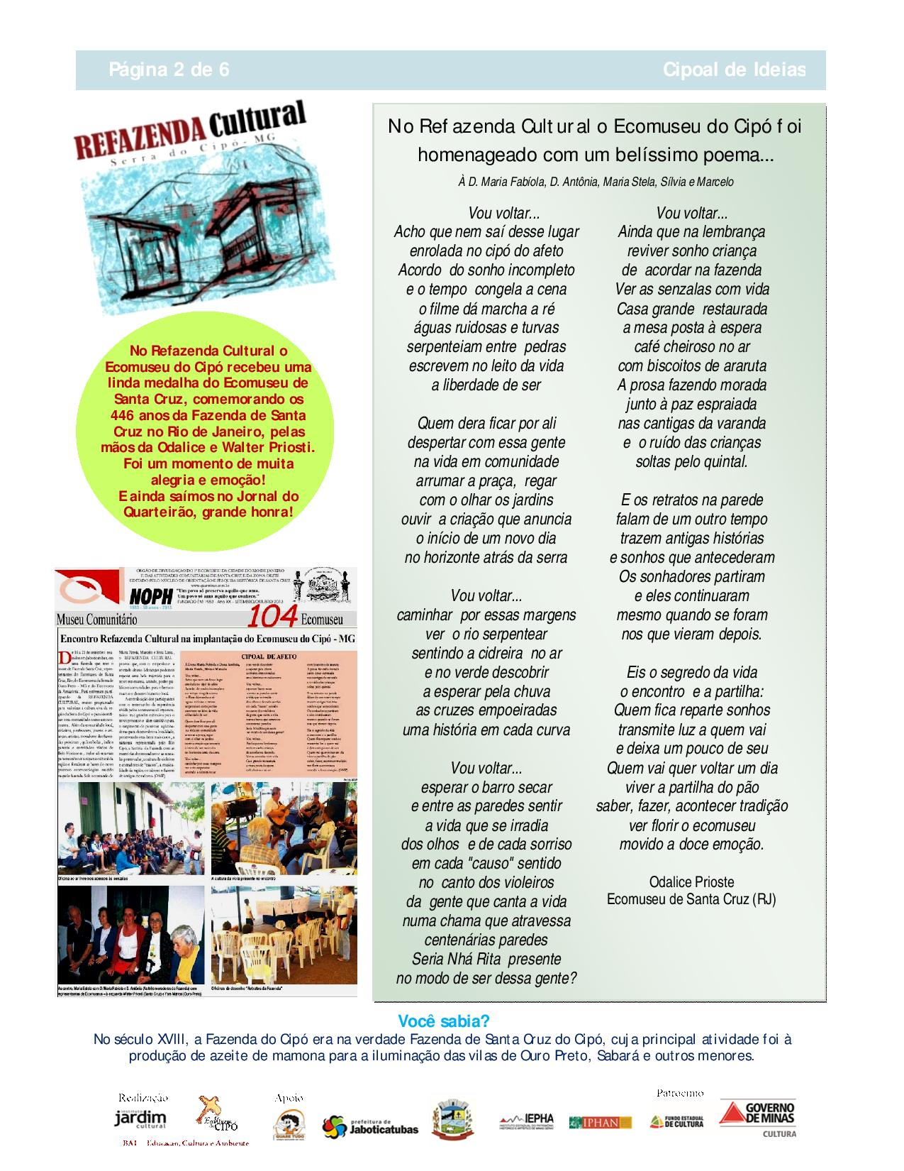 Boletim Cipoal de Ideias - Ecomuseu do Cipó-page-002