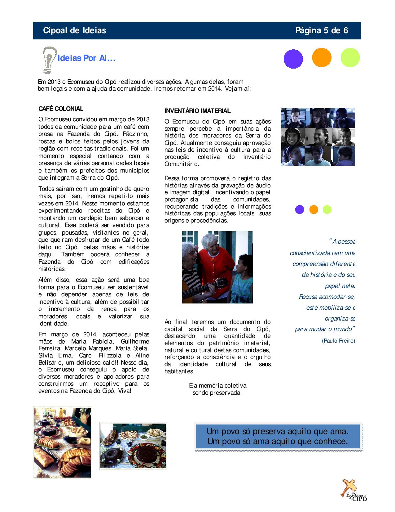 Boletim Cipoal de Ideias - Ecomuseu do Cipó-page-005