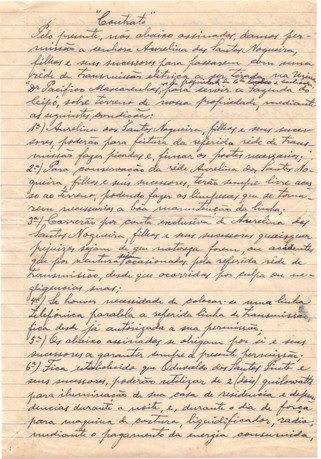 Documento de Transmissão elétrica